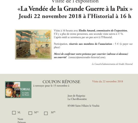 Visite de l'exposition «La Vendée de la Grande Guerre à la Paix »